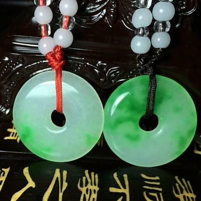 Retro Style Natural Chinese Beautiful Jade Hand Carved Lucky Jade Pendant Cosp