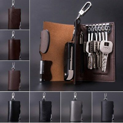 Men Genuine Leather Key Bag Portable Car Keys Holder Keychain Bags Wallet