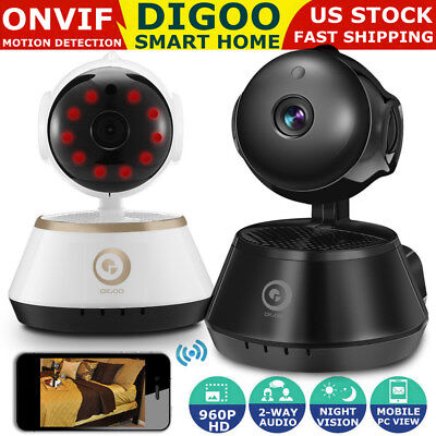 Digoo 960P WiFi IP Camera Baby Monitor Smart Home Security Onvif IR Night Vision