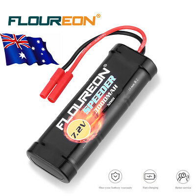 7.2V 3000mAh Ni-MH Battery Flat Pack HXT 4mm for RC Car Truck Redcat Racing 1/10