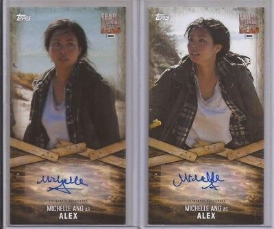 FEAR THE WALKING DEAD Widevision 1&2 MICHELLE ANG Lot of 2 Autograph Cards ALEX