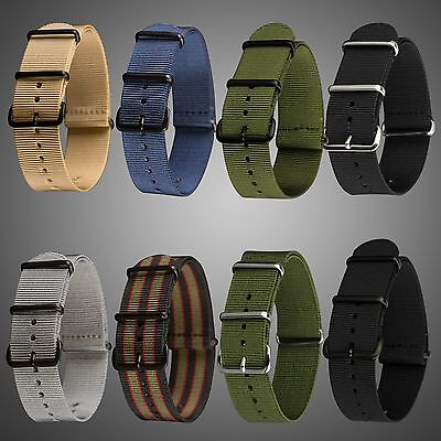 INFANTRY Diver PVD G10 4 Ring Nylon Fabric Canvas Military Watch Strap Band