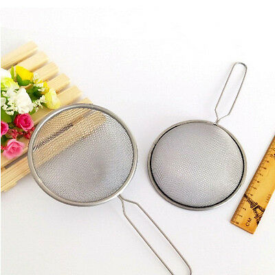 2 x STAINLESS STEEL TEA STRAINER WIRE MESH CLASSIC TRADITIONAL FILTER SIE kijp
