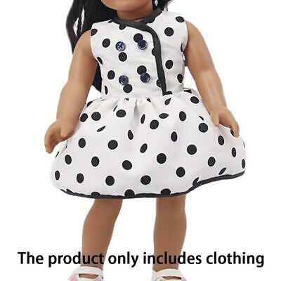 White Summer Party Dress Clothes fit 18'' Doll Girl Our Generation Dolls Accs