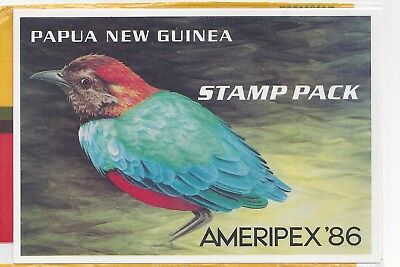 """P.N.G. 1086 Small Birds """"Ameripex 86"""" Stamp Pack"""