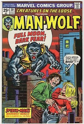 Creatures on the Loose #30 looks NM/M but missing dang MVS 1st Man Wolf solo '74