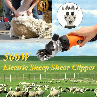 AU 500W Electric Shearing Supplies Livestock Goat Sheep Clipper Farm Alpaca Set