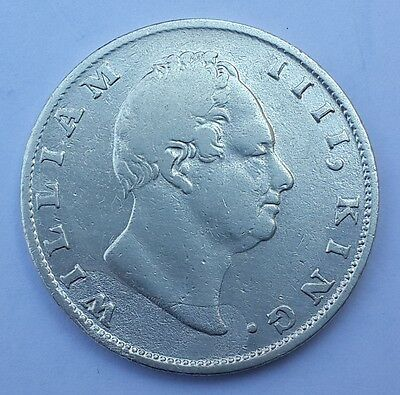 1835 East India Company British Silver 1 Rupee Coin - WILLIAM IIII -  Nice Grade