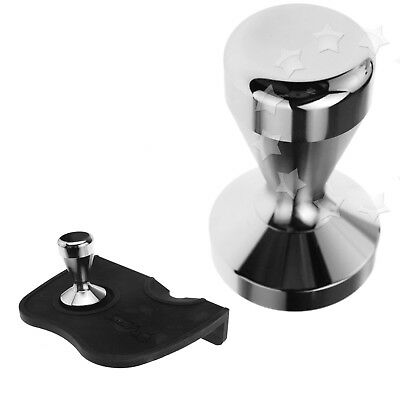 Stainless Steel Polished Tampa Tamp Cafe Flat Base 51mm Coffee Tamper