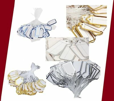 500 to 10 Label Tie String Strung Price Ticket Jeweller Watch Clothing Tags UK