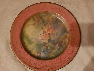 Vintage Decorative Tin Plate - Swing- Willow Plateware-Australian