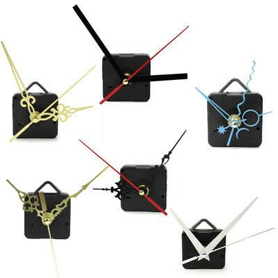 DIY Black Hands Quartz Wall Clock Spindle Movement Mechanism Repair Parts Sile