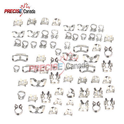 79 Pcs. Endodontic Rubber Dam Clamps Dental Orthodontic Instrument
