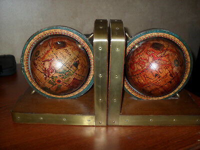 Vintage Old World Bookends--Made In Italy For Ethan Allen