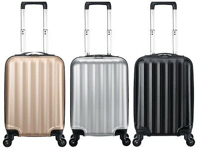 Small 4 Wheels Suitcase Travel Cabin Bag Carry On Hard Case Hand Luggage Trolley
