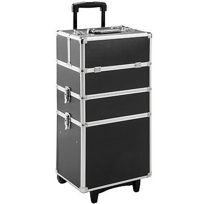 Valigetta Trolley Alu Make Up Beauty Case Porta Trucco Nail Art Valigia Nero