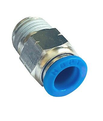 "10 Pcs pneumatic PC1/4"" Tube x 1/8"" NPT Male Connector Push to Connect fitting"