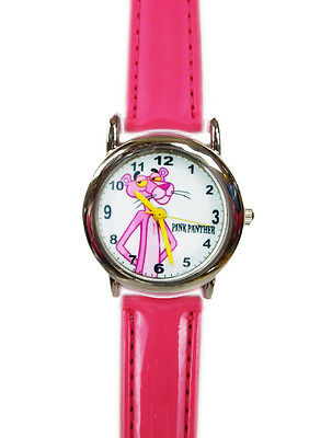 Brand New Pink Panther Wrist Watch ~ leather band
