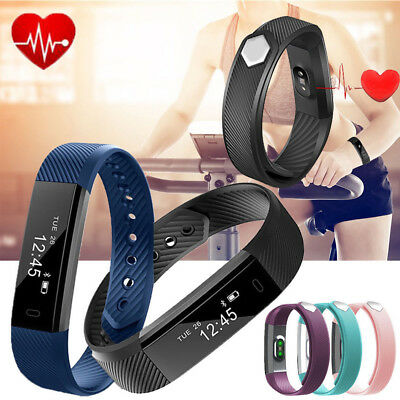 Activity Tracker Heart Rate Monitor Sleep Health Alarm Fitbit Style Pedometer AU