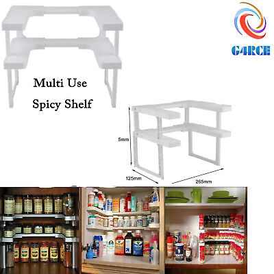 Spicy Shelf Spice Rack and Stackable Organizer,Adjustable,Easy to See all Spices