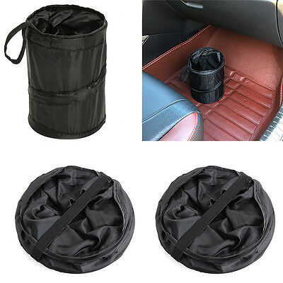 Small Bin Car Trash Garbage Rubbish Hanging Collapsible Waste Basket Fold Best