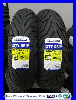 Coppia Gomme Treno Michelin City Grip 120/70-15 140/70-14 Yamaha Xmax X-Max 300