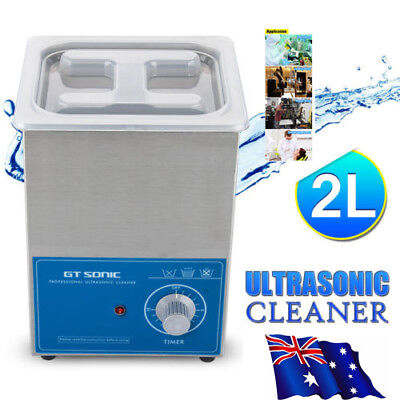 2 Litre Industrial Ultrasonic Cleaner Wave Bath Tank Jewellery Cleaning Machine