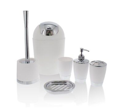 PRIMA 6pc Bathroom Set - White