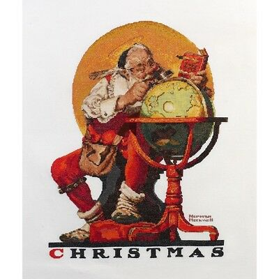 "BUCILLA HEIRLOOM COLLECTION ""SANTA AT THE GLOBE""CROSS STITCH KIT  Kreuzstich"
