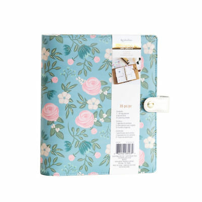 New Teal blue Floral Recollections Planner binder A5  Floral Pink 35pc kit