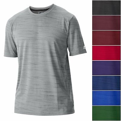 Russell Athletic Men's DRI-POWER Fashion Performance Tee Athletic Striated Shirt