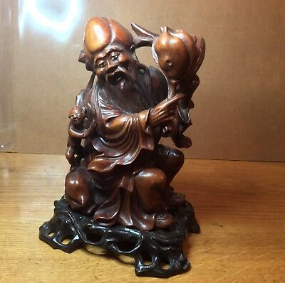 Antique Chinese Carved Wooden God