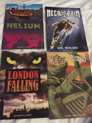4 Rare 2000ad Graphic Novels: Helium, Necrophim, London Falling, The VCs