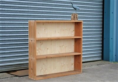 Rustic Solid Pine Bookcase Shelving Wall Mountable Shabby Chic.