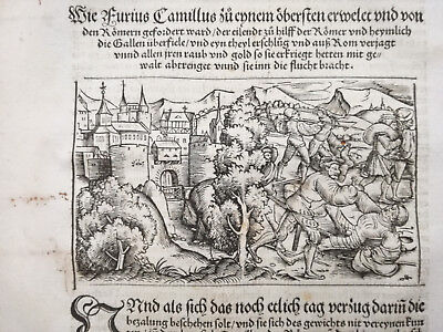 Livius History of Rome Post Incunable Woodcut Schoeffer (57) - 1530