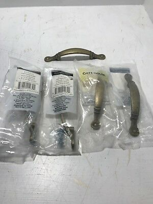 """Style Selections/GateHouse #Z766-3""""LABM-D 3in Antique Brass Pull LOT OF 5 New"""