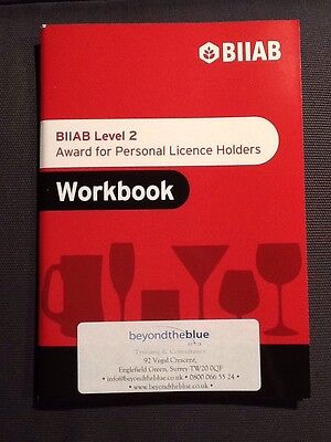 BIIAB APLH / NCPLH / Personal Licence Holders Course Workbook (Alcohol Licence)