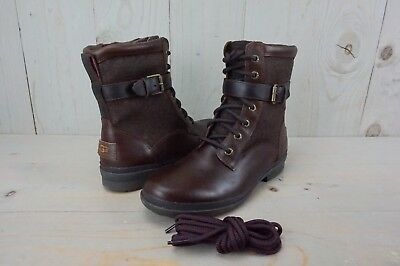 64dc2ae96755 UGG KESEY 1005264 Chestnut Leather Waterproof Womens Boots Us 7 Nib ...