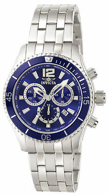 Invicta 0620 Men's Specialty II Chronograph Blue Dial Stainless Steel Watch