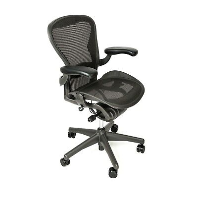 Herman Miller Aeron Office Chair Fully Loaded - Sizes A, B, C + Hardwood Casters