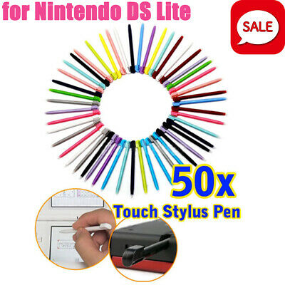 Lot 50Pcs Touch Stylus Pen Mixed Color For Nintentdo Game NDS DS Lite NDSL DSL