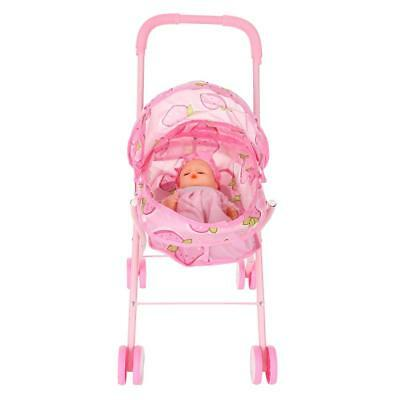 Baby Doll Stroller Carriage Foldable 12inch Stroller Toy collectibles Gift V6S5