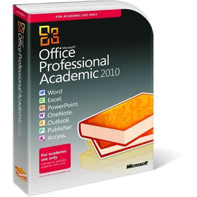 Microsoft Office Professional 2010 Academic 32/64-bit for 1 PC Retail!!