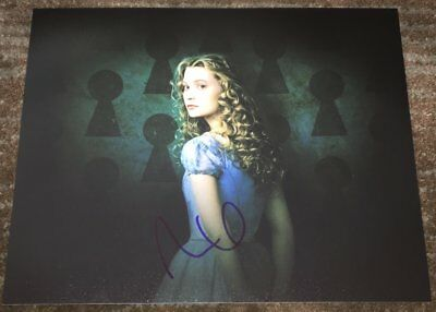 Movies Cheap Sale Mia Wasikowska Signed 8x10 Photo Alice In Wonderland Crimson Peak Actress E