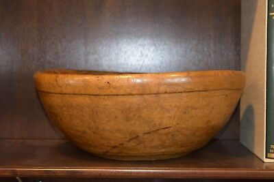 EXCEPTIONAL AMERICAN TURNED BURL TREENWARE BOWL 16.5 inches 6.5 deep
