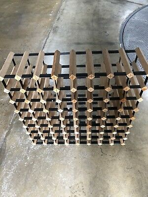 64 Bottle Borders Timber Wine Rack 8X8 Row