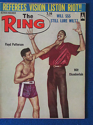 The Ring - Boxing Magazine - October 1965 - Floyd Patterson Cover - Clay-Frazier