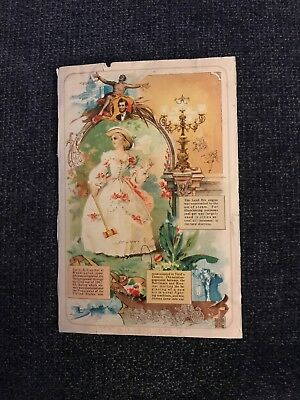Eight Panel Victorian Trade Card The Singer Manufacturing Company
