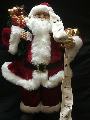 """Large Traditional Santa Claus Figurine, red doll 82cm (32"""") Christmas Decoration"""