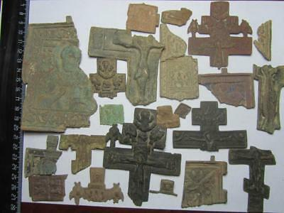 Metal detector finds.mix lot ancient fragments   220 pieces